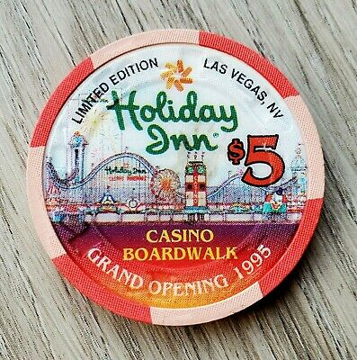 $5 Las Vegas Holiday Inn Boardwalk Grand Opening Casino Chip - Near Mint