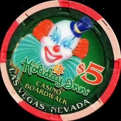 $5 Las Vegas Holiday Inn Boardwalk Jacko the Clown Casino Chip - Near Mint