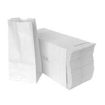 Paper Lunch Bags, Paper Grocery Bags, Durable Paper Bags, Pack Of 500 Bags White