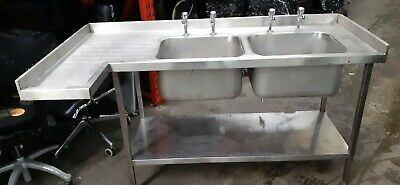 Heavy Duty Stainless Steel Double Sink Commercial Industrial Kitchen Sink