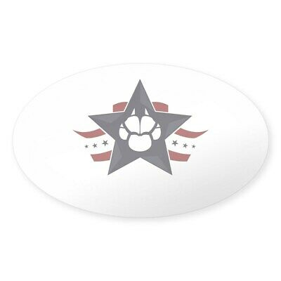 CafePress Clear Sticker With White Lettering Sticker (Oval) (439413190)