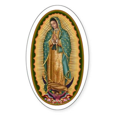CafePress 12 Lady Of Guadalupe Sticker (Oval) (505879066)