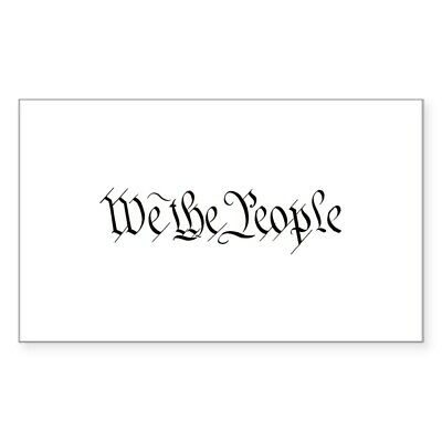 CafePress Small We The People Sticker Sticker (rect.) (674961431)