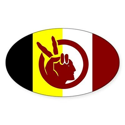CafePress American Indian Movement Sticker (Oval) (718231316)