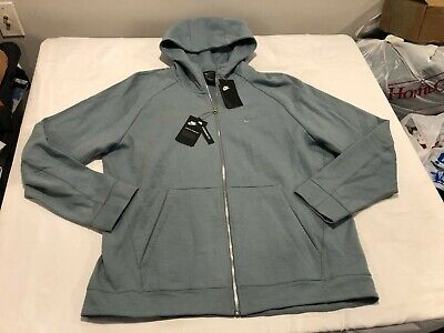 NWT $120.00 Nike Mens Tech Wash Full Zip Hoodie Blue Size LARGE