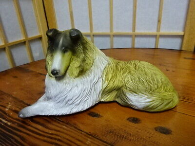 Collectible Decorative Figurine Dog Statue - Collie - Very Good Condition