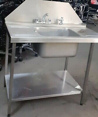 Heavy Duty  Stainless Steel Dishwasher Inlet Sink Commercial Kitchen Sink