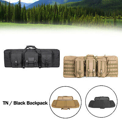 """36"""" Heavy Duty Double Carbine Rifle Bag Soft Gun Case Hunting Storage Backpack"""