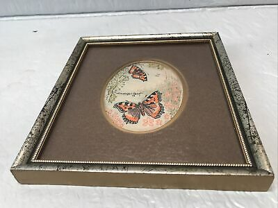 Vintage Charles Berisford Original Jacquard Woven Picture - Butterflies