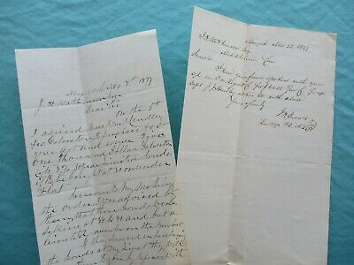 1877 Sailed 1st packet ship from Galveston,Texas,Signed J.J. Hendley letters