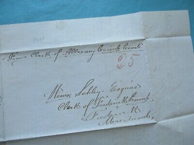 1843 Major Schley (Gen.Wallace,Shiloh battle) signed Frederick,Md. letter,cover