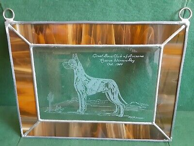 1984 Great Dane Club Of Arizona Reserved Winner Ingrid Jonsson Stained Glass