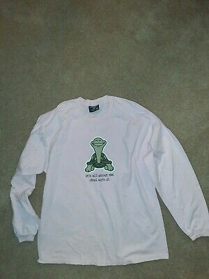 """Steve & Barrys """"Its all about Me"""" Pink Long Sleeve Shirt Top Large"""