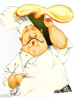 Fat chef cheese grapes wall decal kitchen prepasted border cut out 9.5 inch