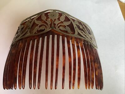 Antique Hair Comb With Silver Decoration