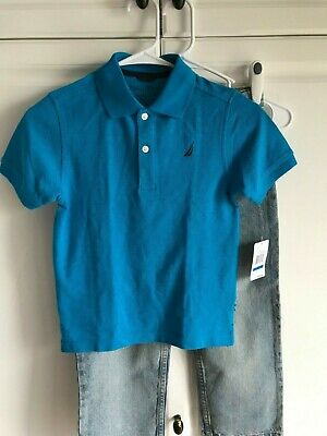 Cherokee Jeans size 7 with Nautica Shirt size 7X New Boys