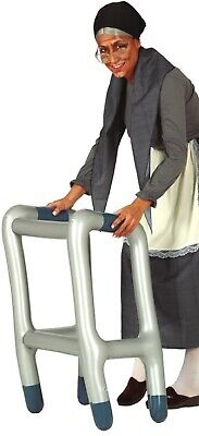 Mens Ladies Inflatable Walking Zimmer Frame Prop OAP Fancy Dress Accessory
