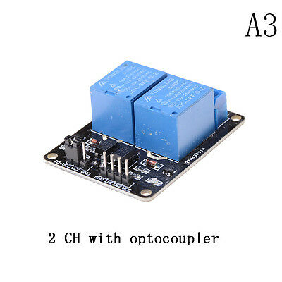 5V 2 Channel Relay Board Module With Optocoupler LED for Arduino PiC ARM Av8