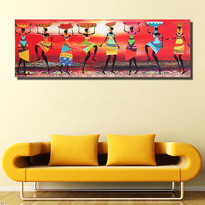 African Art Women with Baby Tribal Canvas Wall Art Picture Print Home Decor