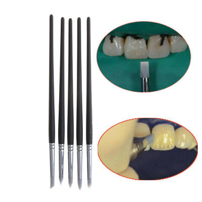 5pcs Dental Adhesive Composite Cement Porcelain Teeth Silicone Brush Pen ToociS5