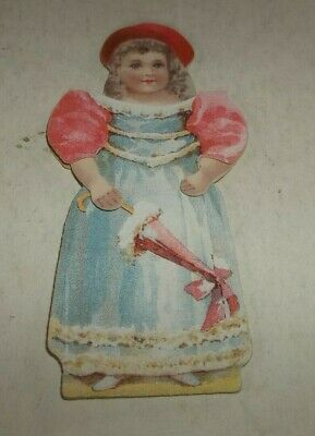 Vtg Cosmo Buttermilk Toilet Soap Advertising Figural Doll Die Cut Trade Card