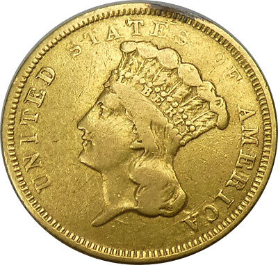 1854-O $3 Gold Indian Princess Head VF Condition LOW MINTAGE 24,000 - bkpp