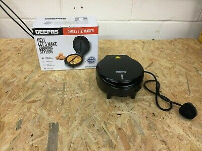 Geepas 1000W Omelette Maker - Electric Cooker with Non-Stick Plate - Automati...
