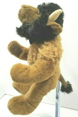 """Buffalo 10"""" Plush Bison CURLY CRITTER Soft Snuggly Brown Stuffed Animal"""