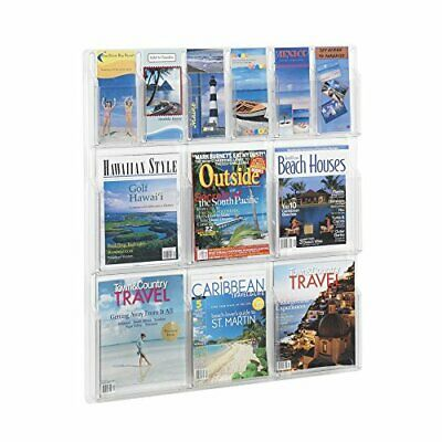 Safco Products 5606CL Reveal Literature Display 6 Magazine and 6 Pamphlet Clear
