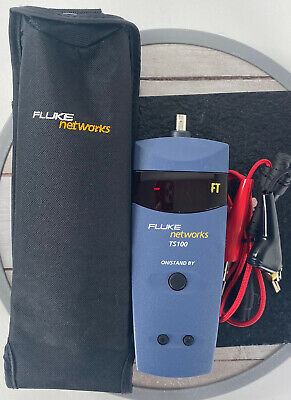 Fluke Networks TS100 cable fault finder with Cable and Case