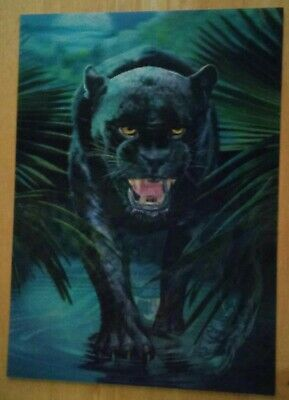 Black Panther and Leopard  Lenticular art print
