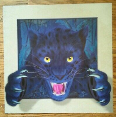 Black panther   lenticular poster print