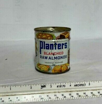 Vintage Planters Blanched Raw Almonds Tin UNOPENED