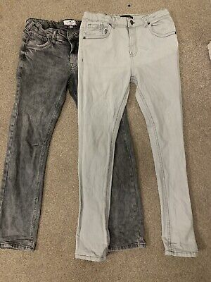 Distressed River Island & Tom Tailor Boy Super Skinny Jeans Trousers 12 Year X 2