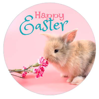 48 EASTER STICKERS 40mm BUNNY