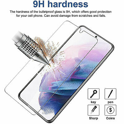 2x For Samsung S21/M/20/30/40/J3/5/7/S4/5/6/ A01/20/51 Tempered Screen Protector