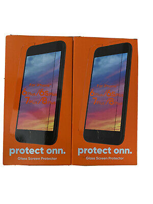 2 Pack Protect Onn. iPhone glass screen protector Fits 6/6s/7/8 Plus (2021)