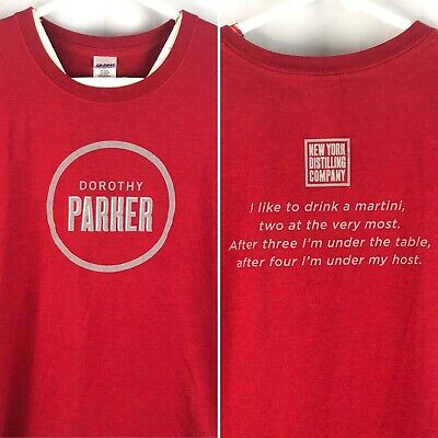 New York Distilling Co Dorothy Parker Martini Quote Gin Promo T-Shirt XL Mens