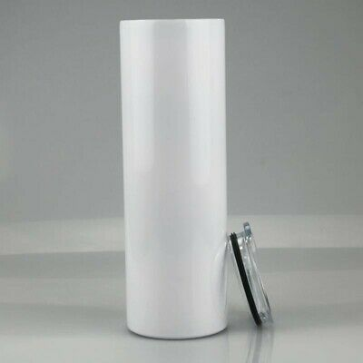 20oz Sublimation Blank SKINNY TUMBLERS Stainless Steel WHITE 5 PACK