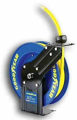 Steel Retractable Air Compressor Hose Reel with 3/8 in. x 25 ft. Rubber