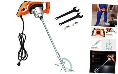 1400W Electric Mortar Mixer Handheld Concrete Cement Plaster w/High and Low Gea