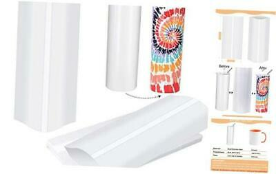 5x10 Inch Sublimation Shrink Wrap Sleeves, White Sublimation Shrink Wrap for Tum