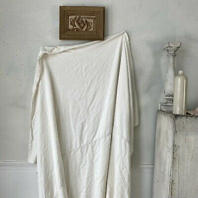 SOFT 18th century French linen sheet textile fabric material old softened