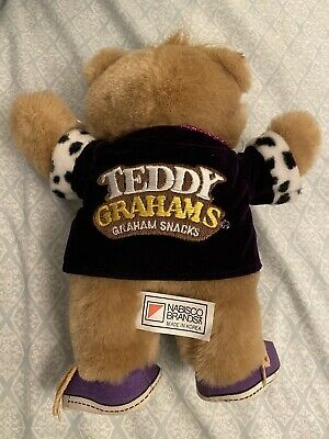 Nabisco Brands - Teddy Grahams Bear Plush, With Tags, 1990, Applause, pre-owned