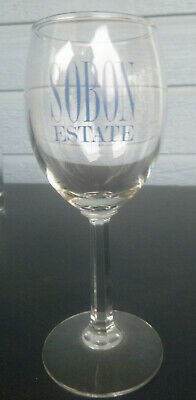 vintage Sobon Estates  winery wine glass Plymouth  California 7 inches