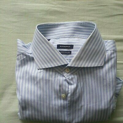 Mens pinstripe shirt. Suit supply. 17.5 collar