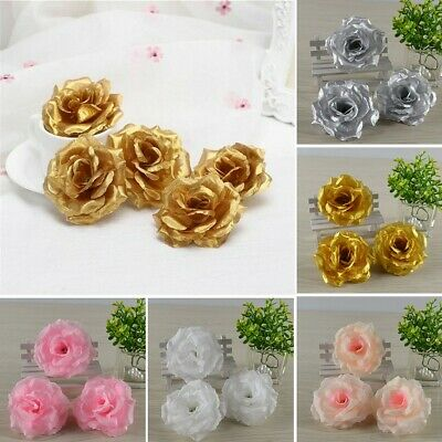 20pcs Rose Artificial Silk Flower Heads Bridal Wedding Bouquet Party Home Decor