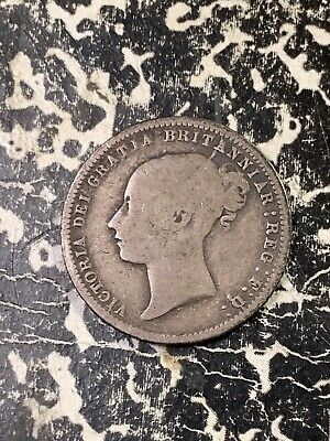 1872 Great Britain 6 Pence Sixpence Lot#Z2025 Silver! Die#24