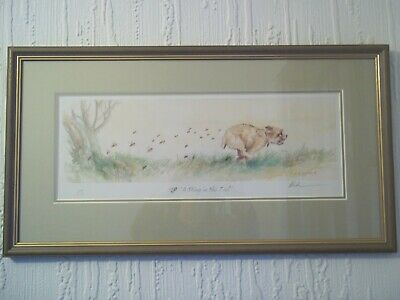 Mick Cawston Border Terrier signed print A Sting in the Tail