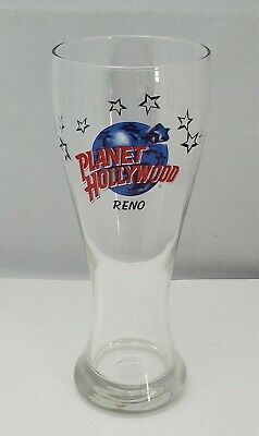 Planet Hollywood Reno Tall Pilsner Glass Restaurant Beer Cup, Hard to Find